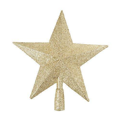 Robelli 3D Glitter Star Christmas Tree Topper Decoration (Gold)