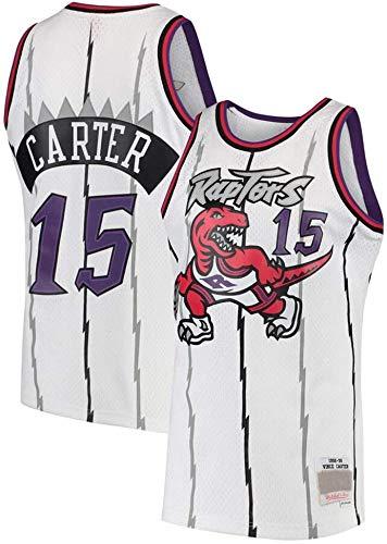 June Bart Canotta NBA,Donne Jersey Uomo - Toronto Raptors 15# Carter Maglie Traspirante Ricamati Pallacanestro Swingman Jersey