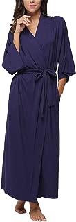 Women's Cotton Kimono Robes,Long Dressing Gown Soft Bathrobes Loungewear