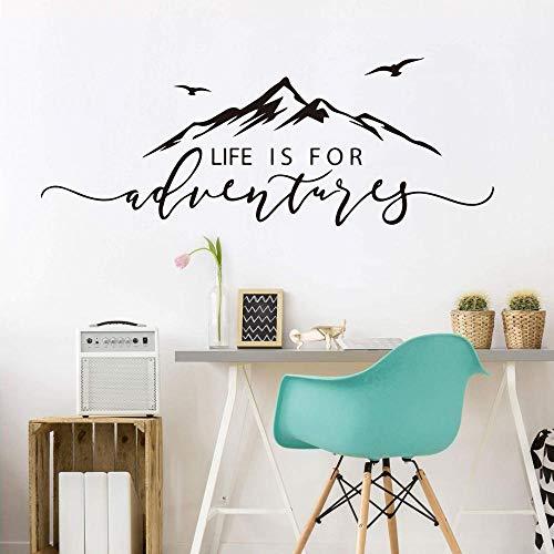 ASFGA Landschaft Leben ist EIN Abenteuer Giebel Wand Schlafzimmer Wohnzimmer Abenteuer Abenteuer Reise inspirierende Wandtattoo Wohnzimmer Den Büro 150x56cm