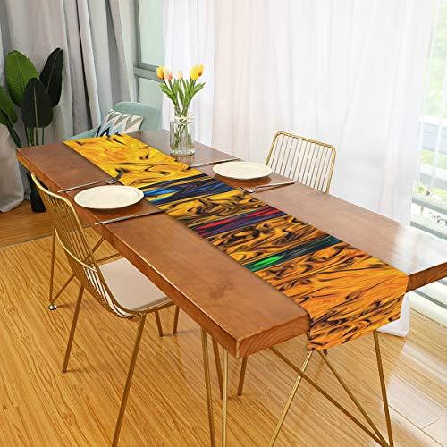 Büro Tischläufer Afrika Retro Vintage Style Girly Tischläufer Esstisch Set Dekor für Büro Küche Essen Hochzeitsfeier Home Couchtisch Dekor