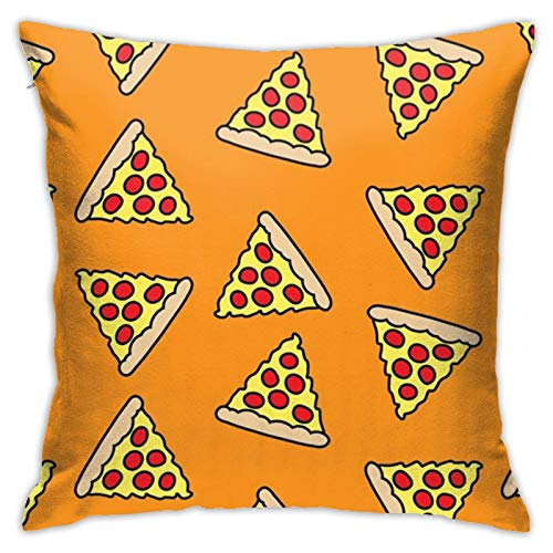 Pillow Covers 18x18inch, Fun Pizza Pillow Cases Square Cushion Cover Home Sofa Bedroom Decorative