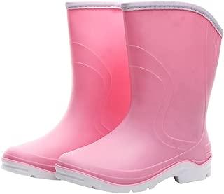 Women Half Calf Ankle Rubber Rainboots 2 Color Waterproof Boots for Garden Rain Round Toe Rainboots