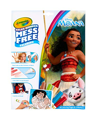 Crayola Wonder Moana Coloring Pages, Mess Free, Refill Book