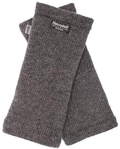 EEM Damen Strick Wollstulpe Pulswärmer MAYA mit Thinsulate Thermofutter aus Polyester, Strickmaterial aus 100% Wolle; Anthrazit Onesize