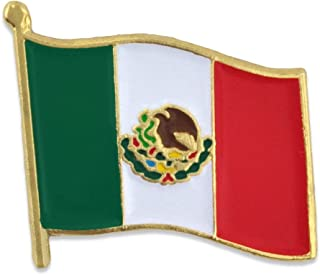 Mexico Mexican World Flag Enamel Lapel Pin 3/4''