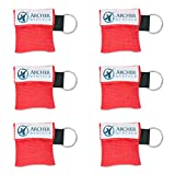 CPR Mask for Pocket or Key chain, CPR Emergency Face Shield with One-way Valve Breathing Barrier for First Aid or AED Training, Archer MedTech (6)