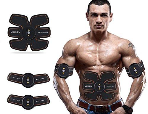 ABS Trainer Muscle toner cintura EMS Muscle Stimulato Muscle fitness, ricarica USB Smart Home fitness supporto apparecchio unisex per uomo e donna