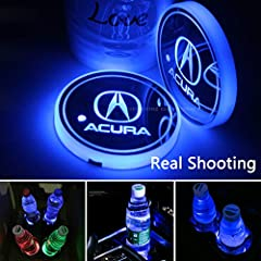 ★【17 Modes】Steady on single color,Combination,Breath changes,RGB multicolor cup pad with 7colors(white, red, blue, green, yellow, purple, ice blue) for you to choose,LED coaster diameter: 2.7 inches,Basically suitable for all car models.Note:Because ...