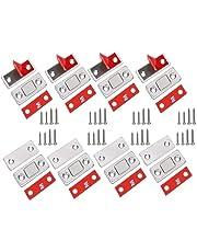 Anlising Magneetsluiter, 8 stuks, ultra dun, deurvanger, magneet, schuiflade, zelfklevend, deur, magneetsluiting, meubelmagneet, deursluiting, voor kast, balkon, schuifdeur, magneetslot