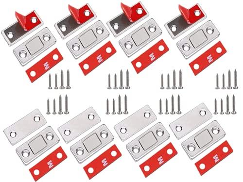 Calamita Porta anlising 8 Pezzi Chiusura Magnetica per Ante Ultra Sottile Calamita per Cassetti Adesivo Chiudiporta Calamita da Armadio per Ante Cucina Porta Magnete Mobili Magneti per Chiusure