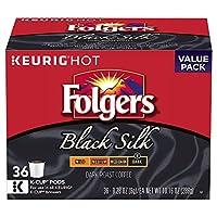 Folgers Black Silk Keurig Dark roast coffee K-Cups フォルジャーズシルク ダークローストKカップケリーグKカップ36杯分 [並行輸入品]