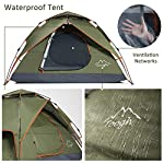 Toogh Camping Tent 2-3 Person - Waterproof Dome Tents Automatic Pop Up
