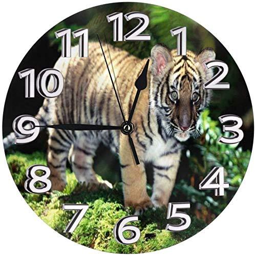 AZHOULIULIU Co.,ltd Amur Tiger Cub Reloj de Pared Reloj de plástico Durable...