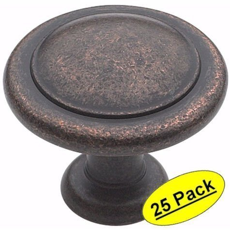 Amerock BP1387-RBZ Rustic Bronze Reflections Round Cabinet Hardware Knob, 1-1/4 Diameter - by Amerock