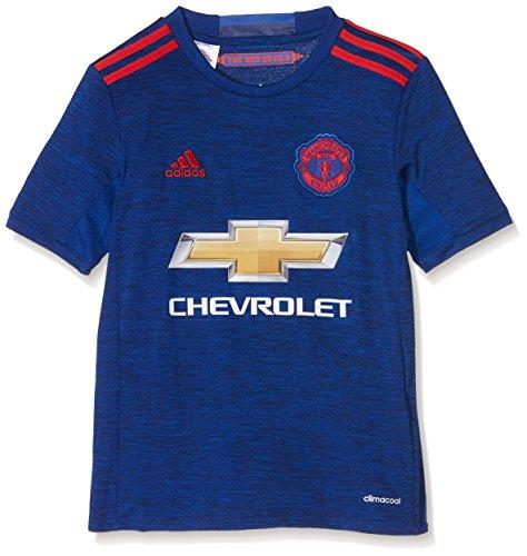adidas Jungen Fußball/Auswärts-trikot Manchester United Replica, Collegiate Royal/Real Red, 128