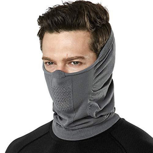 TSLA Pañuelo ligero con protección UPF 50+, máscara facial para exteriores y deportes, resistente al viento, cortavientos (yzn24), gris, talla única