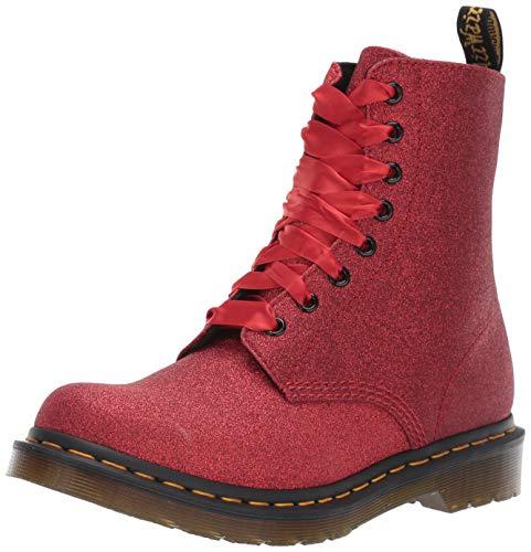 Dr. Martens 1461 Pascal Glitter Stiefelletten/Boots Damen Rot - 36 - Boots