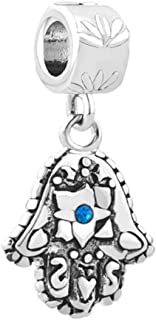 Blue Evil Eye Charm Hamsa Hand Of Fatima Charms Swirl Lotus Spacer Beads For Bracelets