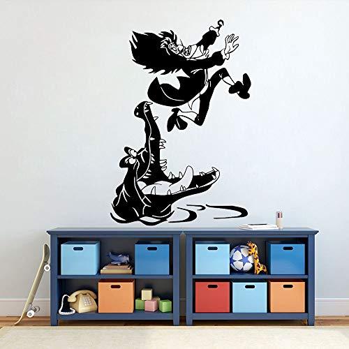 Neverland Capitán Peter Pan gancho vinilo pared pegatina gancho y cilindro letras inspiran gimnasio en casa