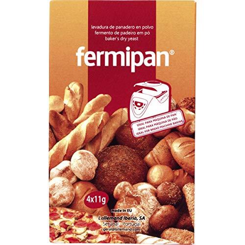 Levadura de panadero en polvo - Fermiplan - 4x11 gr - en total 44gr