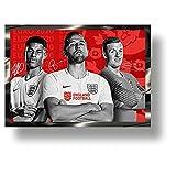 Euro2020 Marco de la firma impresa especial del equipo de fútbol de Inglaterra