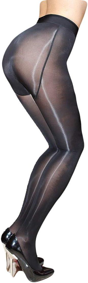 Tomtop201309 Super Elastic High Gloss Shiny Pantyhose Sheer Stockings Tights Hosiery Hose Black