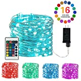 Plug-in Fairy Lights LED Color Changing String Lights 33 Feet 100 LED 4 Modes Copper Wire Twinkle Starry Fairy Lights Remote Timer Waterproof String Lights for Bedroom Wedding Party Decoration