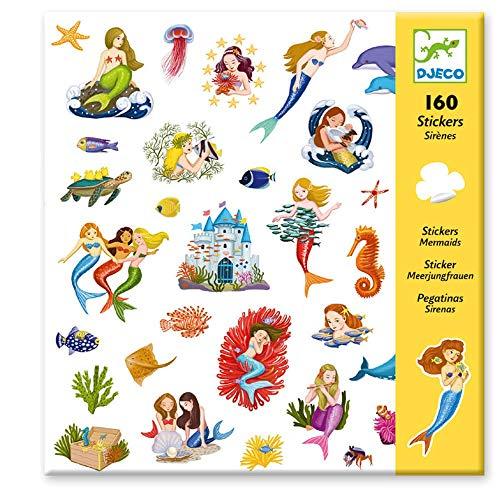 Djeco DJ08885 Sticker Aufkleber Meerjungfrauen 160 Stueck