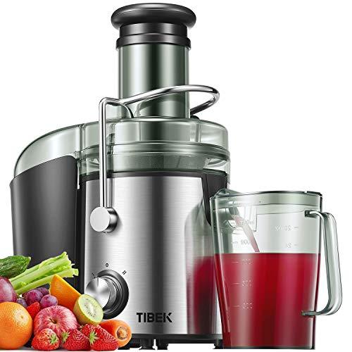 Licuadoras para Verduras y Frutas 800W Licuadoras para Zumos Centrífugo, 75mm Boca Ancha y Multi-Velocidades, Base Antideslizante, Extractor de Jugos Libre de BPA, Diseño Antigoteo