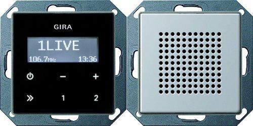 Gira 2280203 Unterputz Radio RDS Gira E22 Aluminium