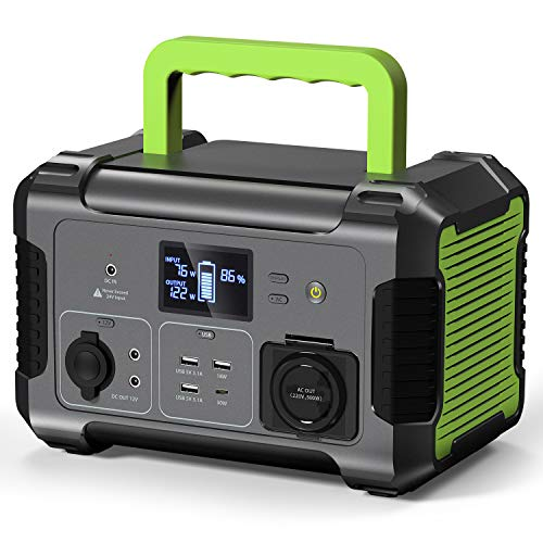 PAXCESS Portable Power Station 300, 288Wh/78000mAh Backup Lithium Battery Power Supply, 110V/300W (500W Peak) AC Outlet 12V DC Solar Generator, Emergency Battery Power Source for Outdoor Camping