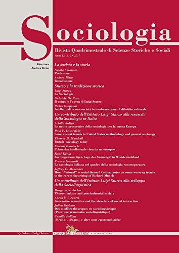 Sociologia n.2/2017: Rivista quadrimestrale di Scienze Storiche e Sociali