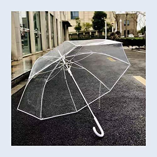 ZDSKSH Paraguas de Burbuja Transparente, Paraguas de cúpula a Prueba de Viento...