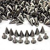 Xinlie Metal Bullet Stud Spike Punk Cinturón Bolsa Clothes Remache Cone Studs Metal Bulle...