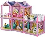 MWKL Lujosa casa de muñecas Casa Familiar de Juguete con Muebles Accesorios de Juego Casa de muñecas Uptown Casa de muñecas de ensueño Juego de Juegos para niñas