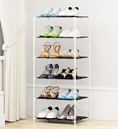 Chaussure Rack Simple de Stockage de Plusieurs étages, Moderne Minimalist résine de ménage Rack de en Plastique, Easy Assembly Shoe Cabinet (Taille : 47 * 37 * 104cm)