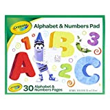 Crayola Alphabet Pad, Tracing Worksheets, 30 Pages, White, 10 x 8 Inches (993406)
