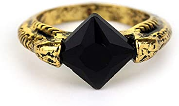 Marvolo Gaunt Signet Resurrection Stone Deathly Hallows Horcrux Ring - Black/Gold (0.3 oz)