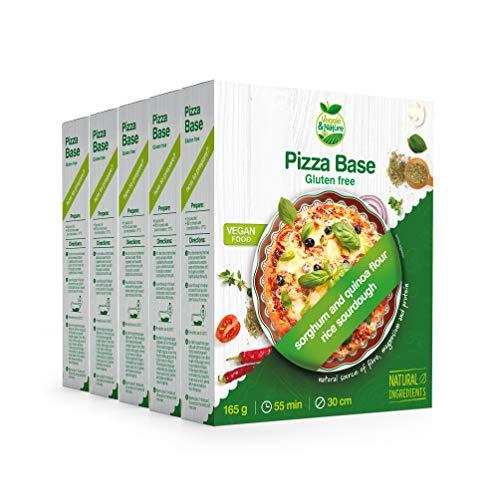 Veggie&Nature - Préparation pour pâte à pizza végétalienne sans gluten, 165g (5sachets)