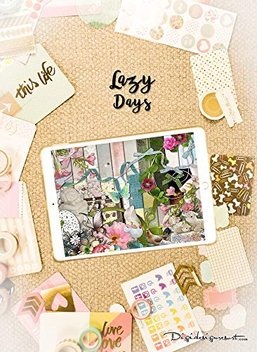 """Me Time Digital Scrapbooking Kit """"Lazy Days"""" 