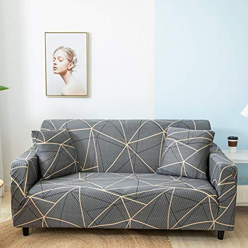 Fundas de sofá Protectoras de sofá de Pieles de sofá para Sala de Estar Funda elástica elástica Fundas de sofá seccionales de Esquina A11 2 plazas