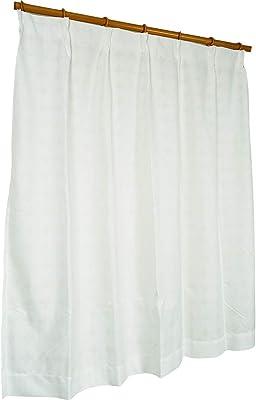アーリエ(Arie) レースカーテン ホワイト 幅100×丈198cm(2枚入り) 遮熱 断熱 UVカット 遮像 エコリエミズタマ