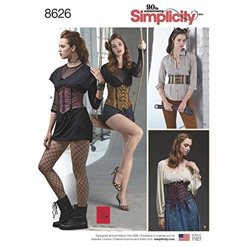 Simplicity Schnittmuster 8626 Korsetts R5 (44-46)