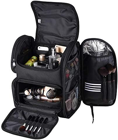 Byootique Classic Black Makeup Train Case Soft Sided Barber Cosmetic Backpack Organize Storage product image