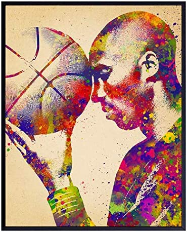 Original Kobe Bryant Basketball Poster 8x10 Wall Art Home Decor for Bedroom Living Room Office product image