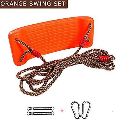 XLO Kinder-Hollywoodschaukel, schwere verstellbare Seile, Hänge-Schaukel, Kunststoff-Bank zum Aufhängen, Spielplatz-Zubehör