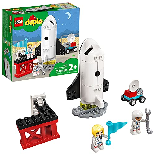 LEGO DUPLO Town Space Shuttle Mission 10944 Building Toy; Space Shuttle Creative Learning Playset, New 2021 (23 Pieces)