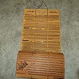 FENGCLOCK Bambú Slip El Arte de la Guerra, Doble Dided Arte Tallado del Libro Sun Tzu de la Guerra para Las Mujeres Chinas/Traducción Inglés Ilustrado estrategias para Ganar sin conflicto, Regalo