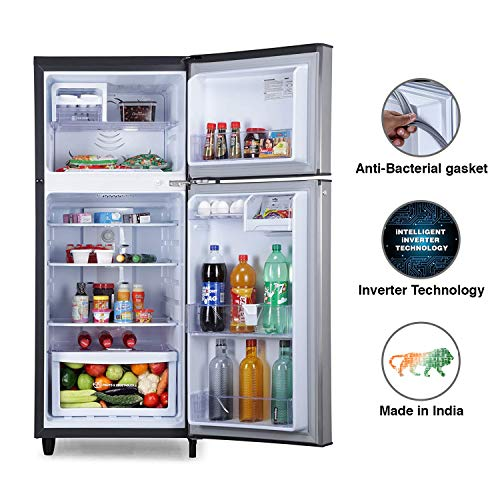 Godrej 236 L 2 Star Inverter Frost-Free Double Door Refrigerator with jumbo vegetable tray (RF EON 236B 25 HI SI ST, Stainless Steel) 4